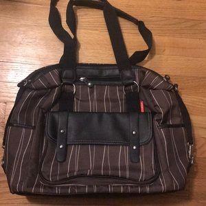 Brown Skip Hop diaper bag
